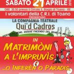Ultimo appuntamento della stagione: 21 Aprile a Toano!